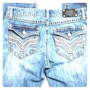 Harley Davidson boot cut jeans. Petite 10